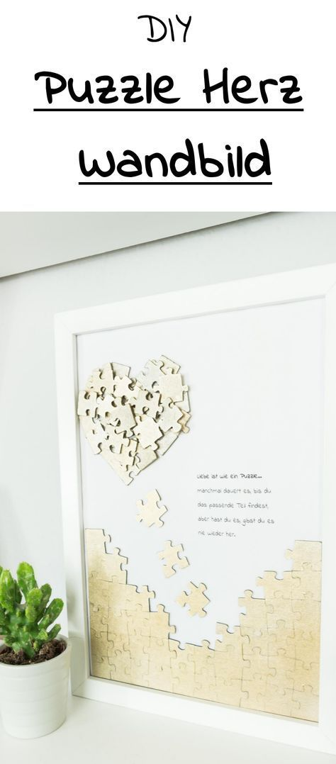 Most up-to-date Screen Tinker puzzle heart mural - beautiful DIY gift idea  Thoughts   From the mom