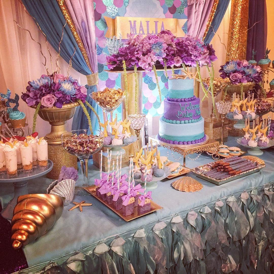184 Likes 13 Comments Dana Dais Sweetdreamsbydana On Instagram Under The Sea B Sea Baby Shower Theme Sea Baby Shower Cake Table Decorations Baby Shower