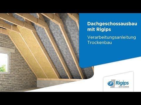 Grundlagen für den Dachgeschossausbau mit Rigips