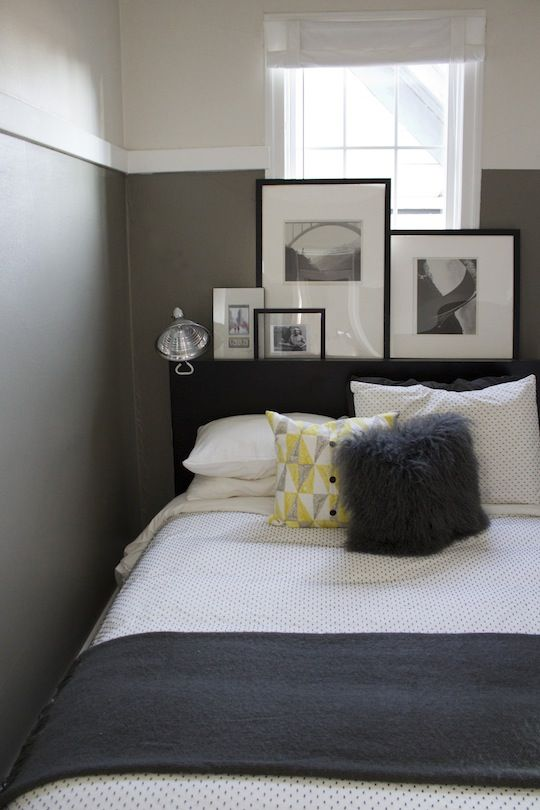 small bedroom decor love that picture ledge behind the headboard rh pinterest com