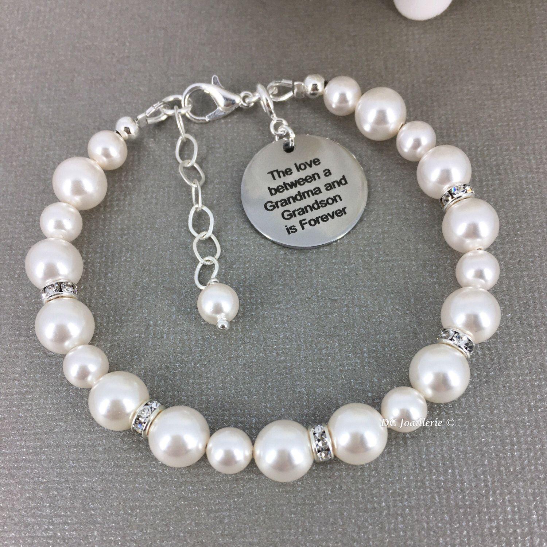 Grandson Is Forever Pearl Bracelet