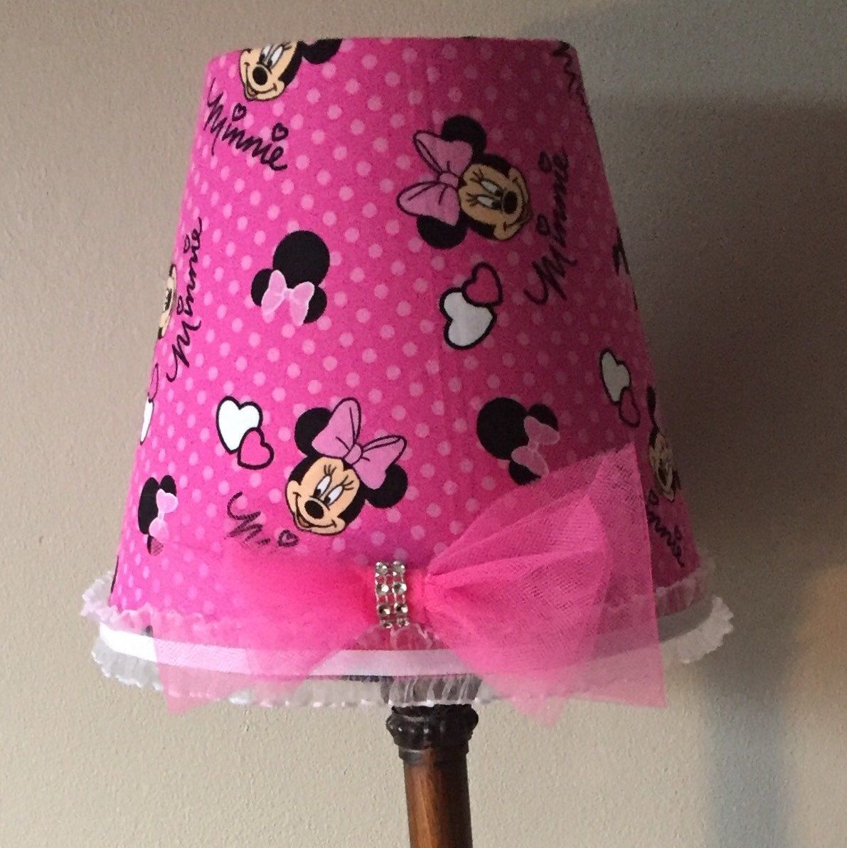 Minnie mouse lamp shade great in nursery room bedroom minnie mouse lamp shade great in nursery room bedroom aloadofball Image collections