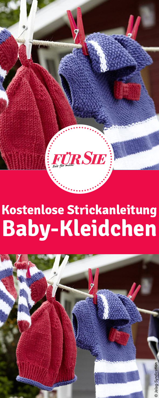 Baby-Kleidchen   Pinterest   Strickanleitung baby, Strickanleitungen ...