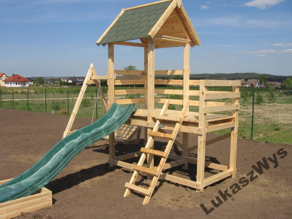 Plac Zabaw Wieza Zjezdzalnia Piaskownica Hustawka 3875315074 Oficjalne Archiwum Allegro Park Slide Structures Park