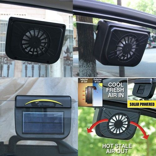 Photo of Solar-Powered Car Air Cooler Fan