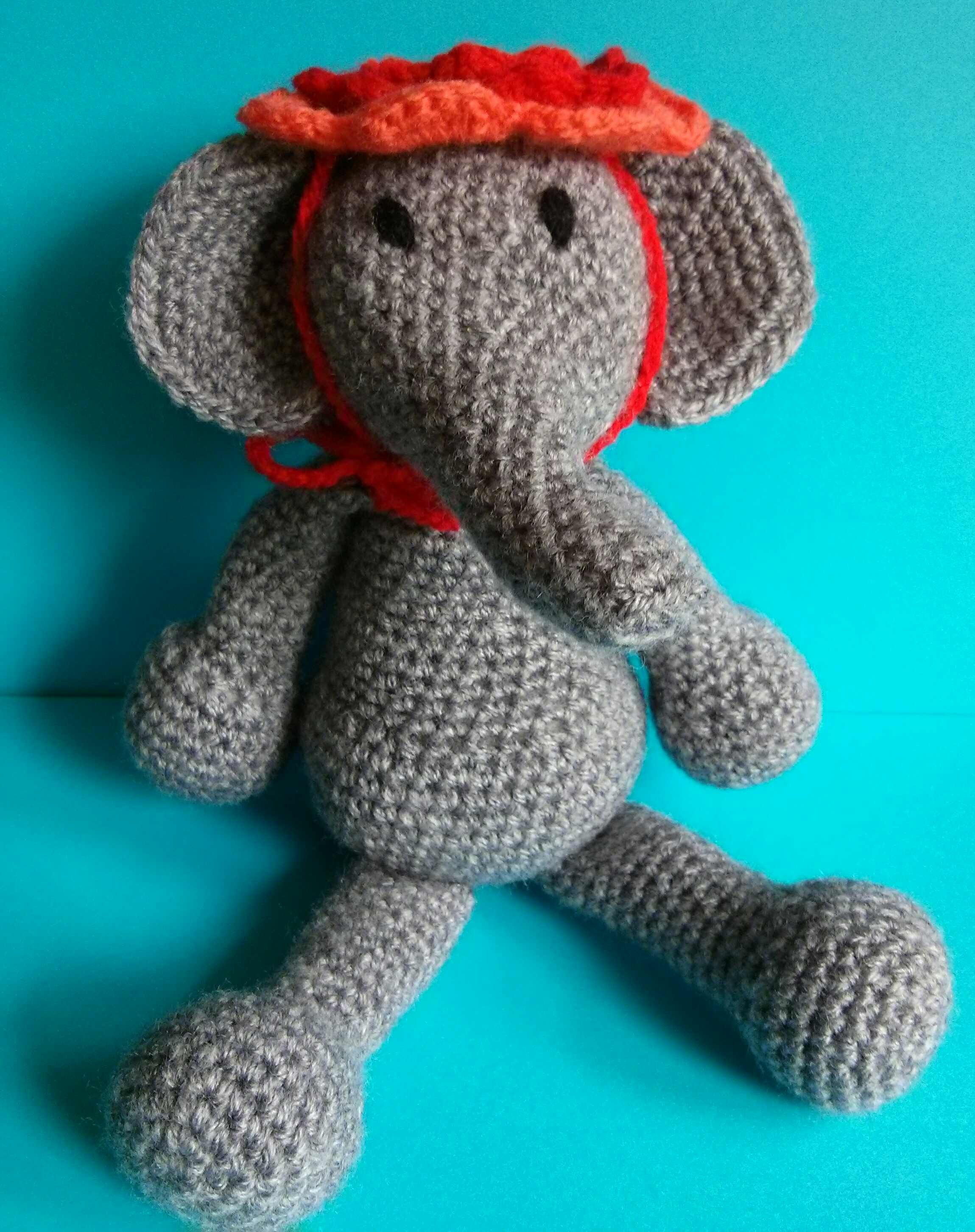 Crocheted Elephant Kerry Lord Pattern Edwards Menagerie