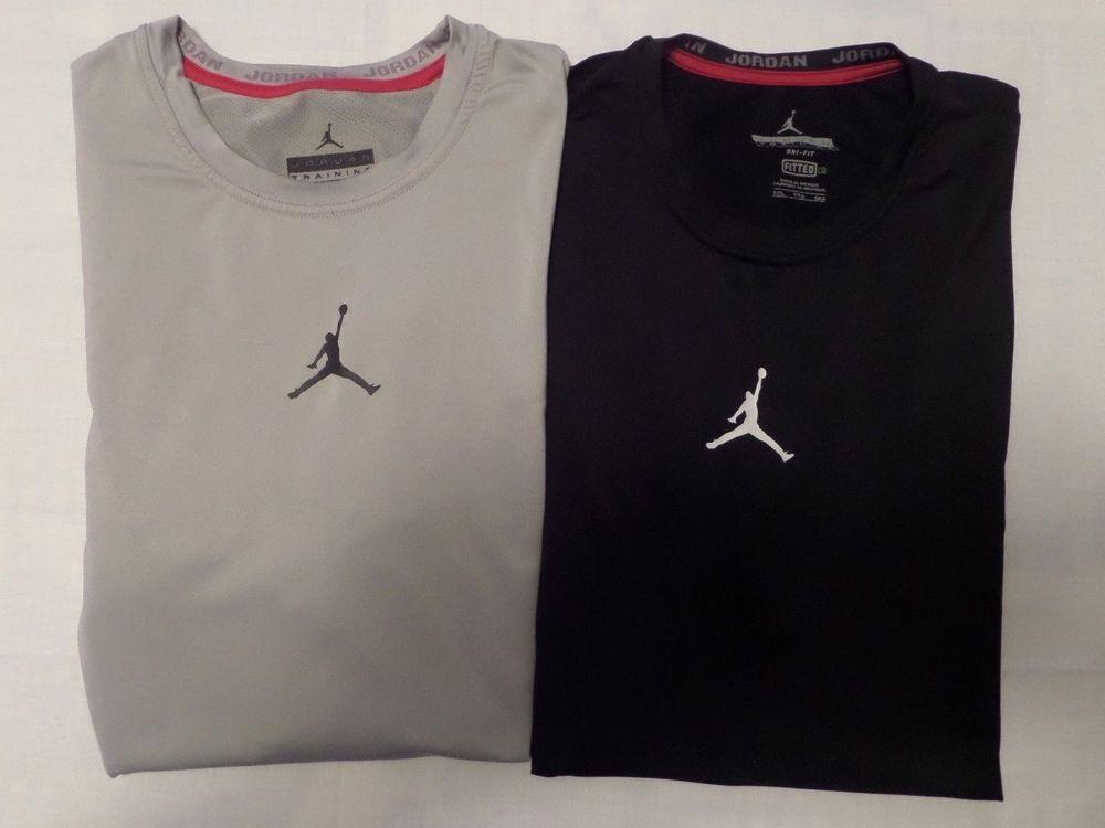 6703eab84f4d Men s Air Jordan T Shirt Graphic JUMPMAN Logo Crew Neck Size-XXL Lot of 2  GUC  NikeAirJordan  BasicTee
