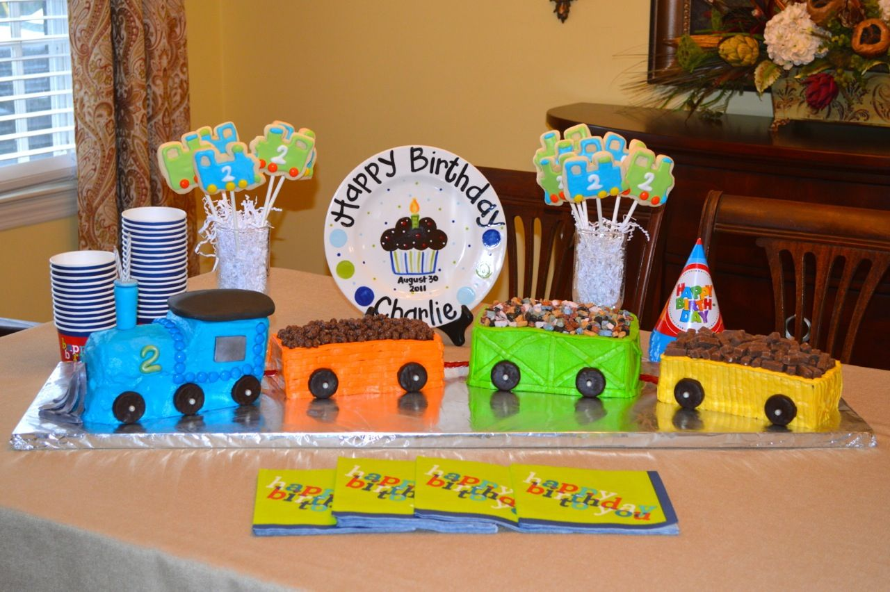 Astonishing Choo Choo Train Birthday Cake With Images Birthday Cake Kids Personalised Birthday Cards Veneteletsinfo