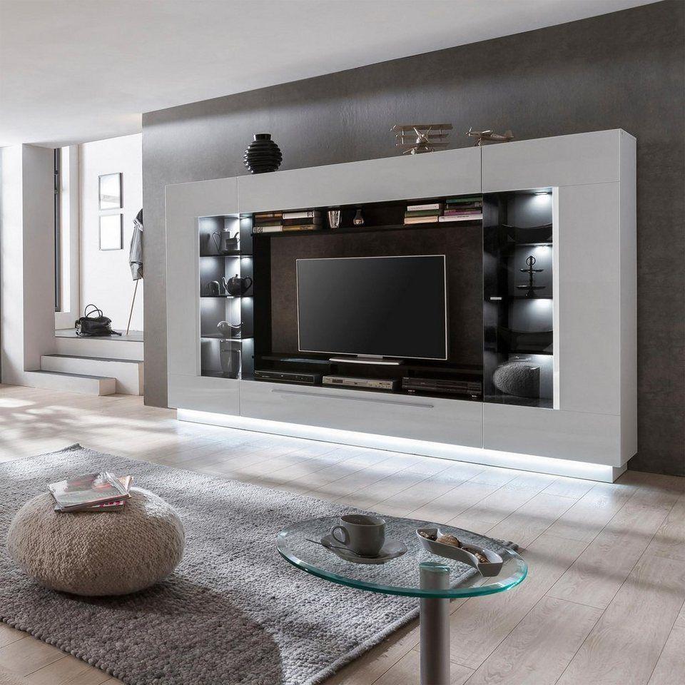 Wohnwand Sensis 4 Tlg 2 Jahre Hersteller Garantie Online Kaufen Wohnen Wohnzimmer Set Wohnwand
