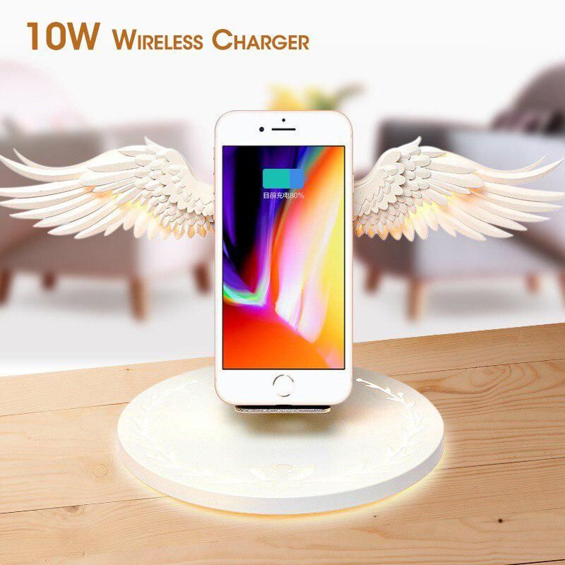 Angel Wings Qi Wireless Charge Dock 10W 3.0 Fast Charger