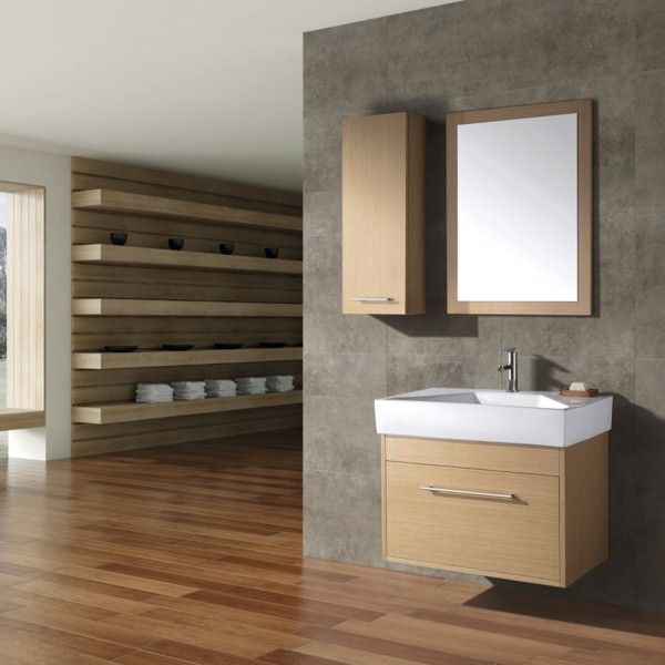 Wall cabinet bathroom Wood Furniture Interior Design Ideas Bathroom wall cabinet