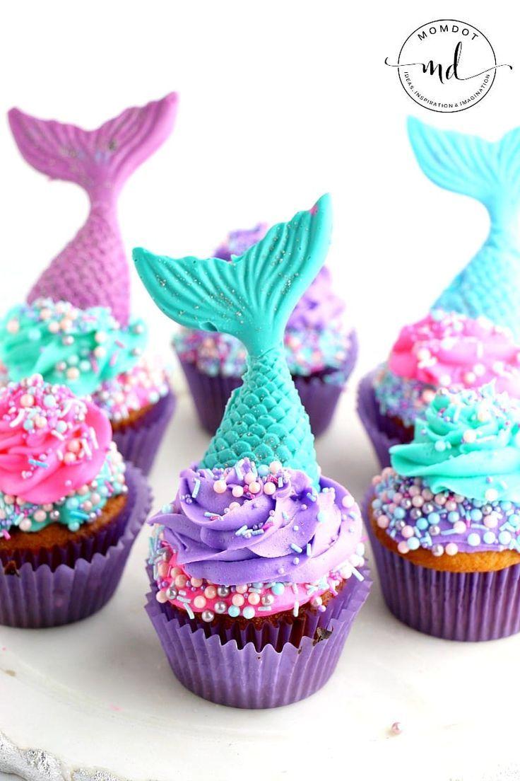 Mermaid Cupcake Recipe Tail Topper Diy Recipe