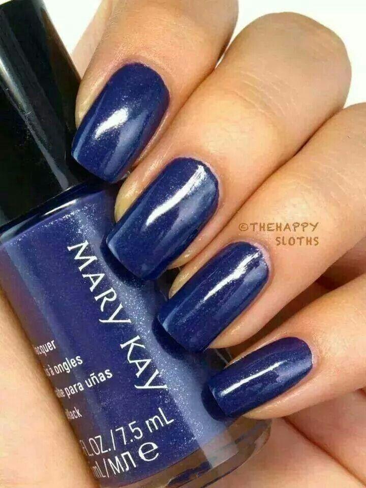 Mary Kay Nail Lacquer in Sapphire Noir Não sou de pintar unhas, mas ...
