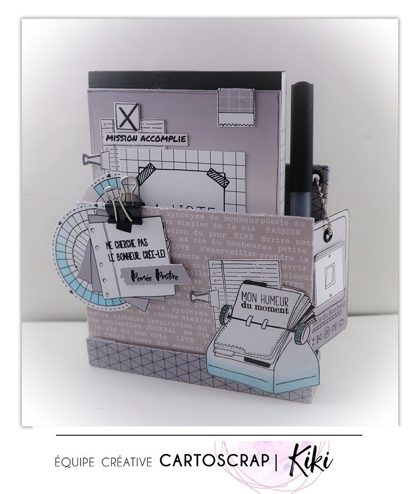 Pas A Pas Mini Organiser Bloc Notes Par Kiki Cartoscrap Mini Albums Scrapbook Tutoriel Mini Albums