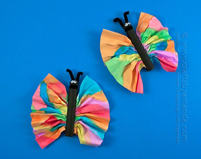 Good Butterfly Craft Ideas For Kids Part - 12: Colorful Butterfly Crafts Kids Will Love