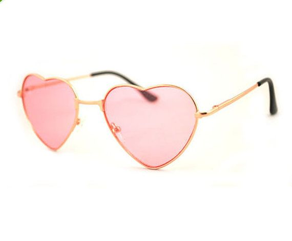 1231851d63 Pink Heart Shaped Sunglasses Pink Sunglasses by Rakunsell on Etsy ...