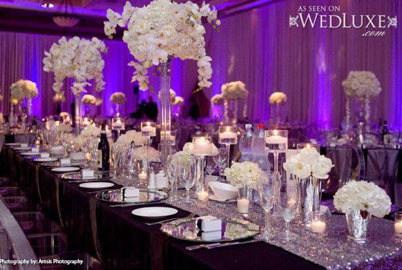 2014 Silver Lavender Wedding Reception Tablescape Silver Wedding