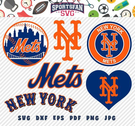 New York Mets Ny Svg Pack Baseball Team Baseball League Baseball