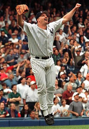 David Wells Celebrating His Perfect Game New York Yankees New York Yankees Baseball Yankees