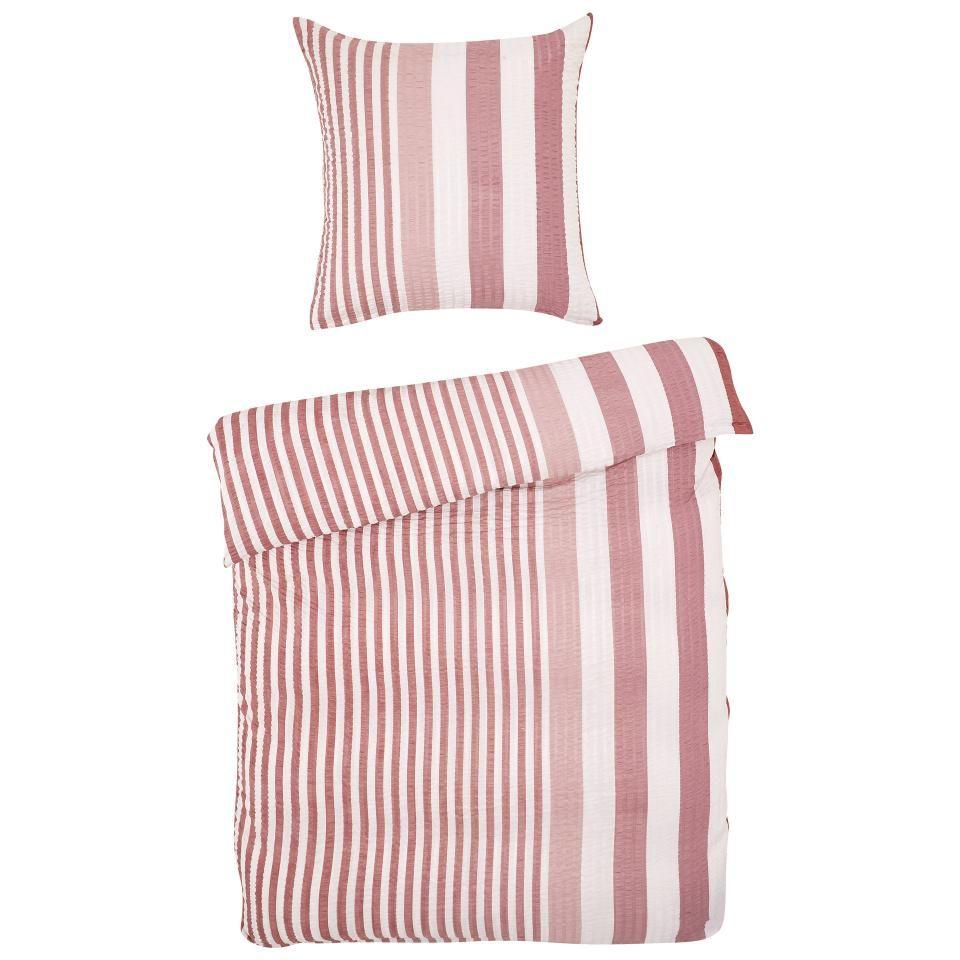 Micro Seersucker Bettwasche Taupe Streifen 135x200 Taupe Bettwasche Fruhstuck Im Bett Schlafzimmermobel