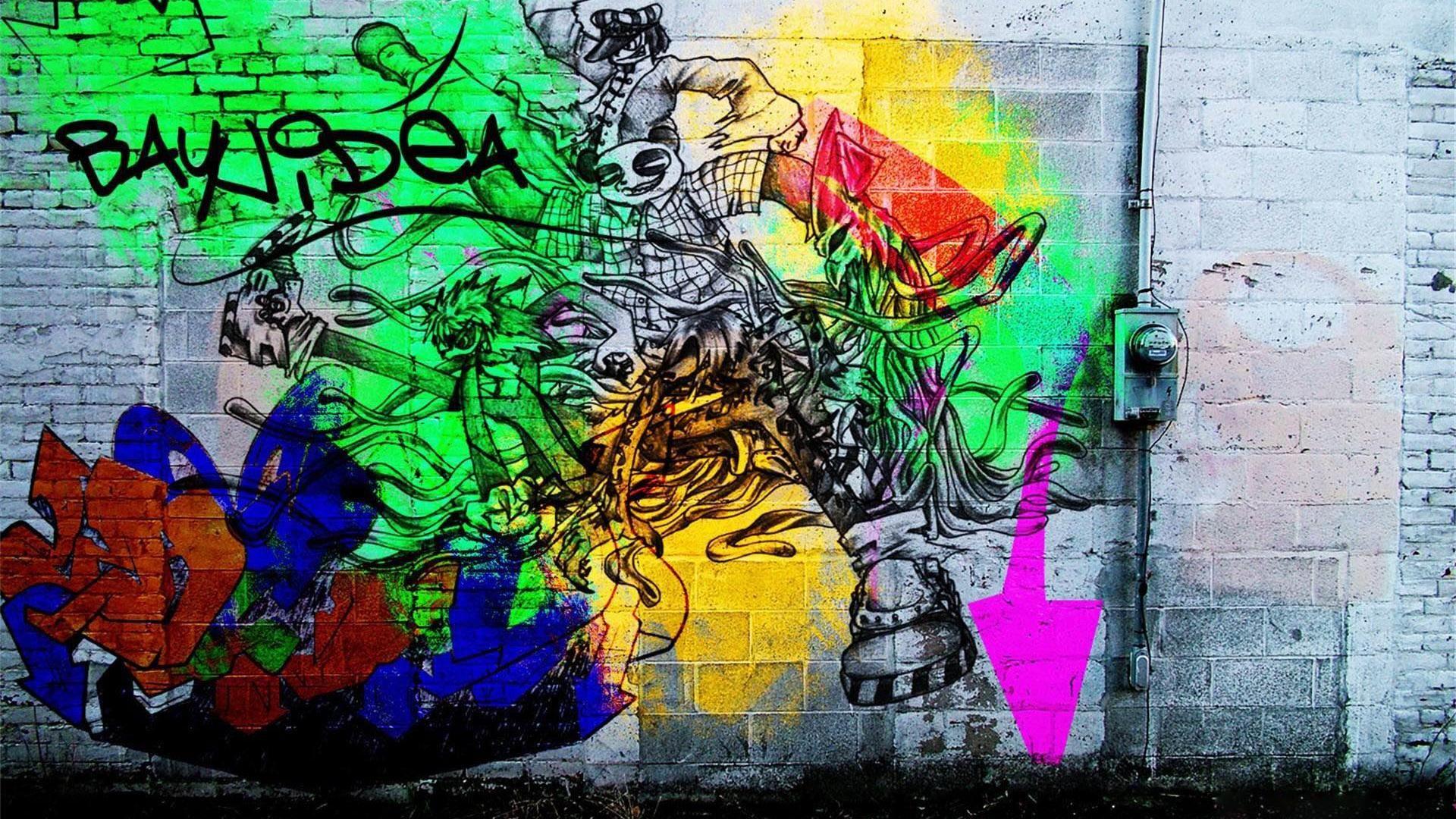 D Graffiti Background III HD Desktop Wallpaper High Definition