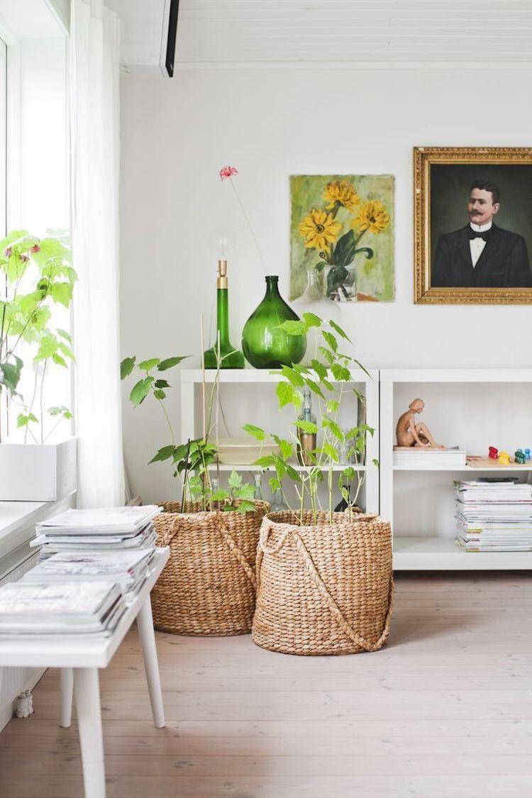 große Körbe als dekorative Pflanzenkübel einsetzen | Haus & Garten ...