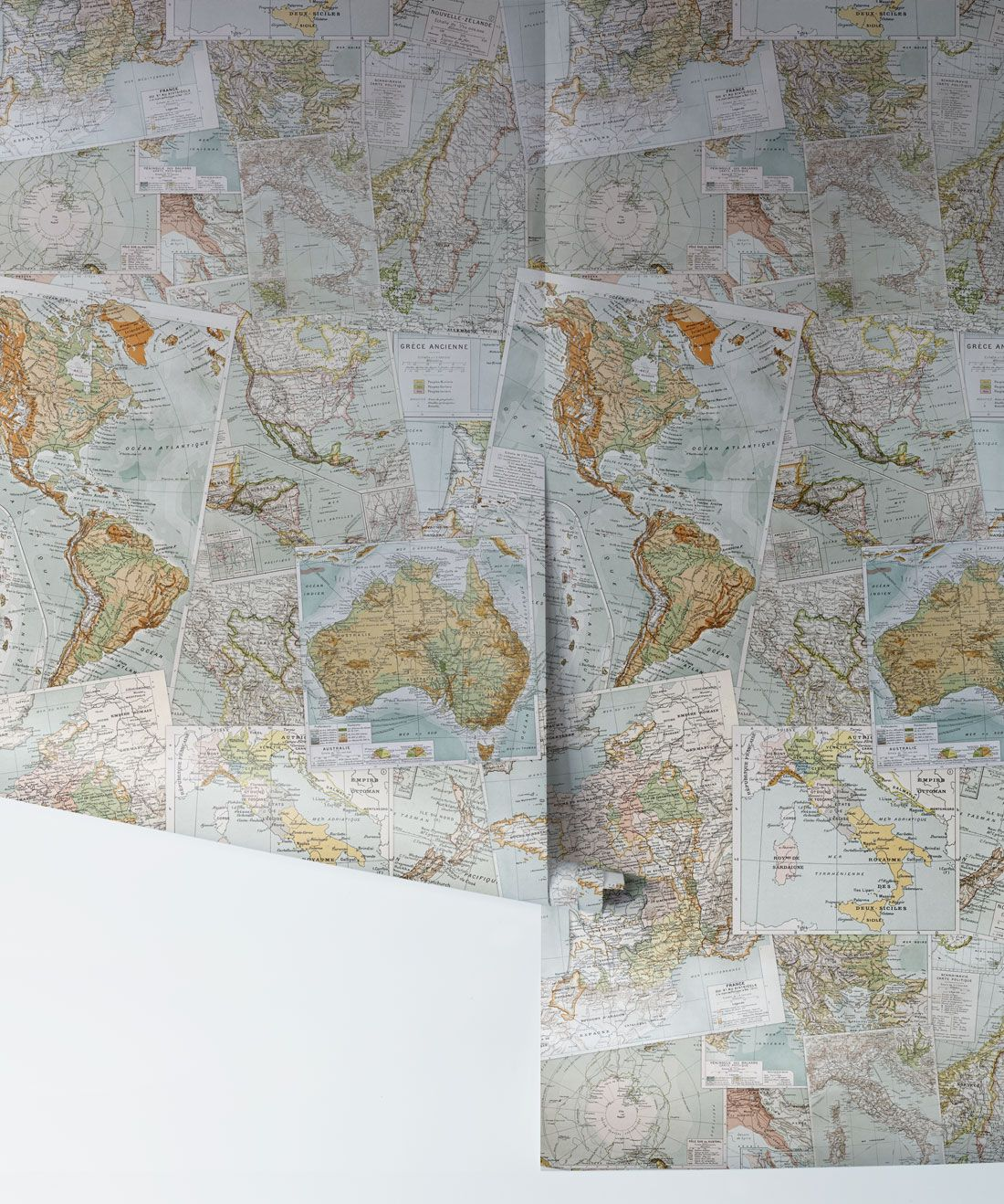 Vintage French Maps Wallpaper Contemporary Milton King Uk In 2020 Map Wallpaper Wallpaper French Vintage