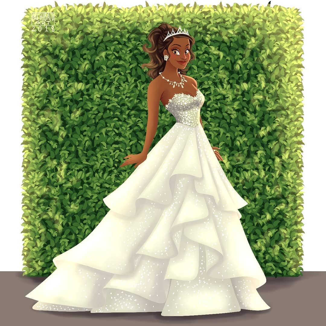Princesses X Modern Brides Disneyprincess Tiana Dress Inspired By One O Disney Princess Fashion Disney Princess Wedding Dresses Disney Princess Wedding [ 1080 x 1080 Pixel ]