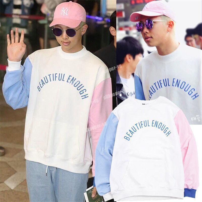 e7ebe6e2c3 $12.99 - Kpop Bts Rap Monster Sweater Airport Fashion Hoodie Bangtan Boys  Jimin Pullover #ebay #Fashion