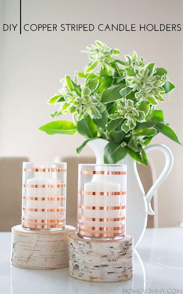 Kupferstreifen-Kerzenständer toll und echt machbar für jeden!