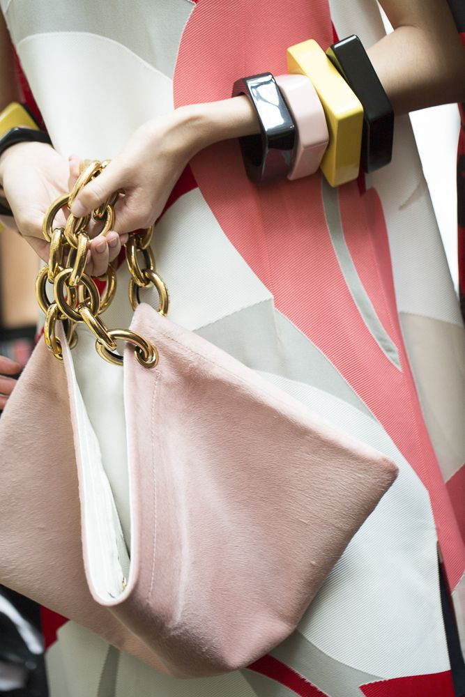Go backstage at Marni's chic, minimalist Milan Fashion Week runway show, now on wmag.com.