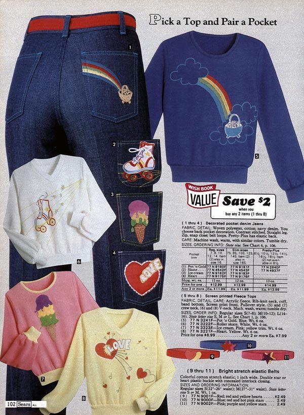 Pin on 1980s: Women's & Girls Fashion