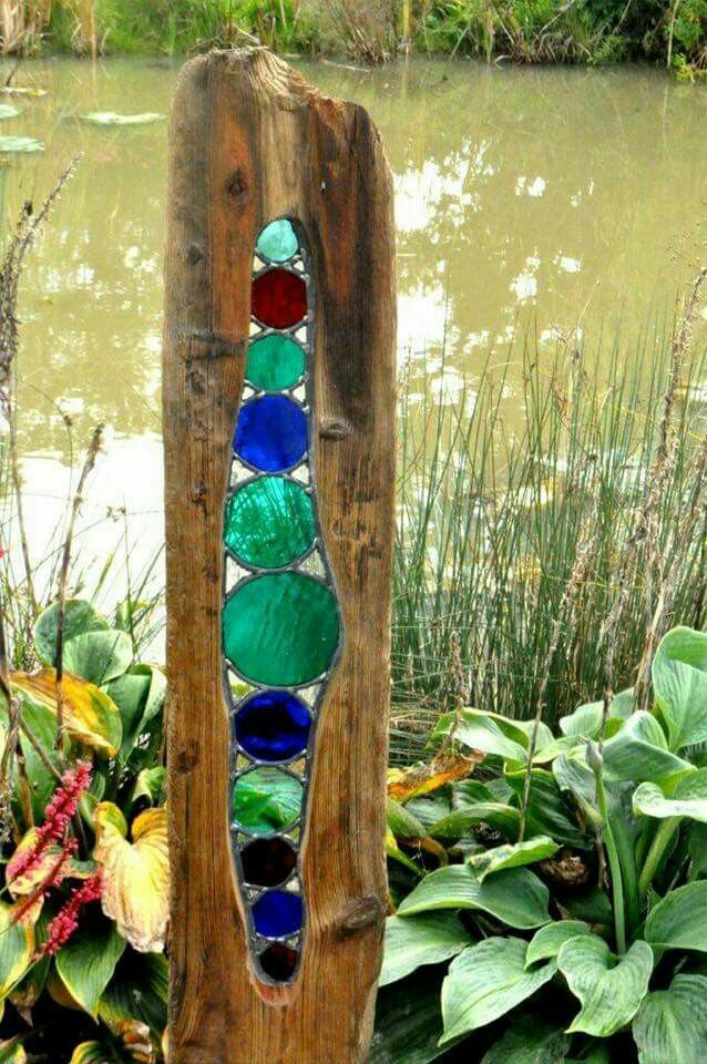 Stained glass driftwood pinteres for How to make stained glass in driftwood