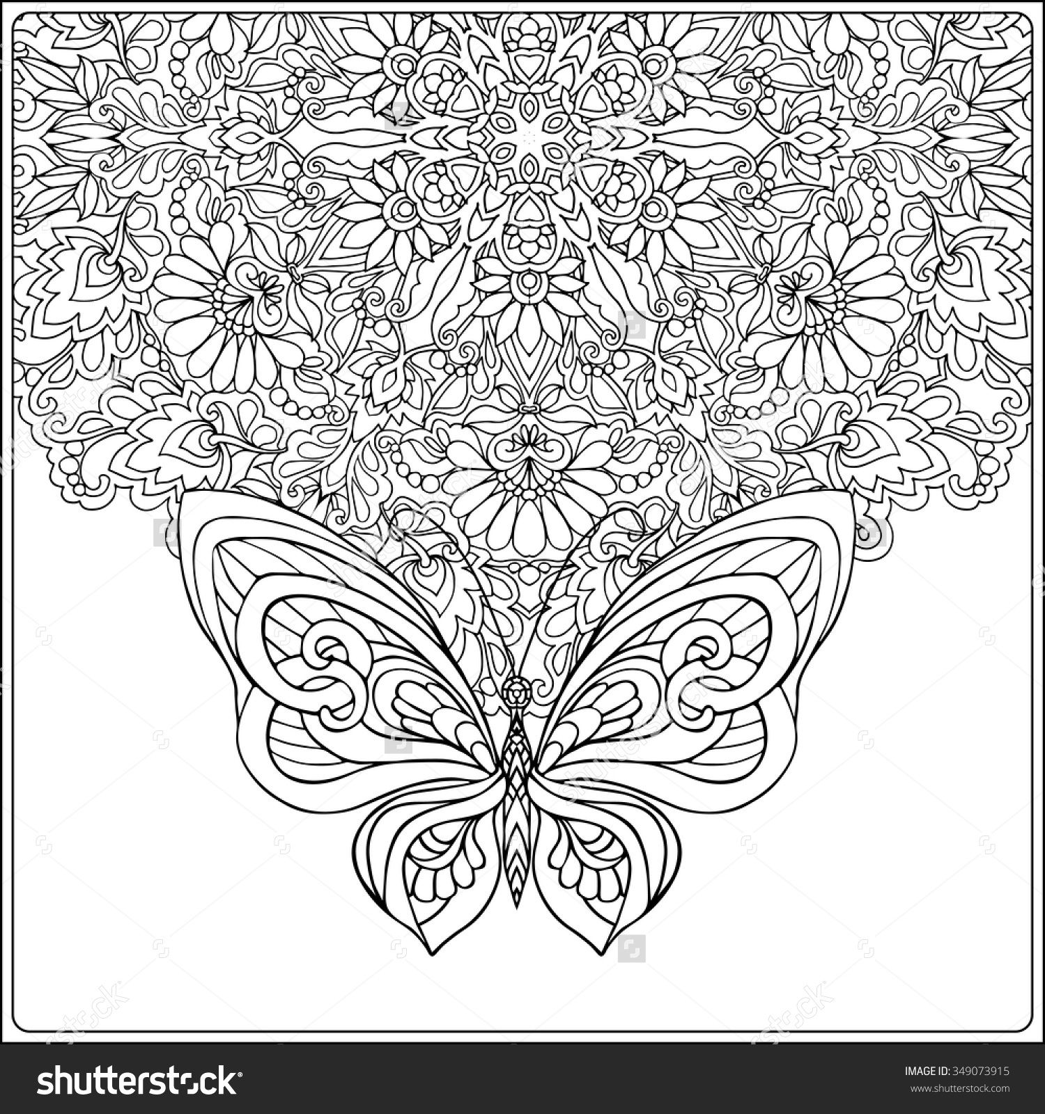 floral mandala colouring pages