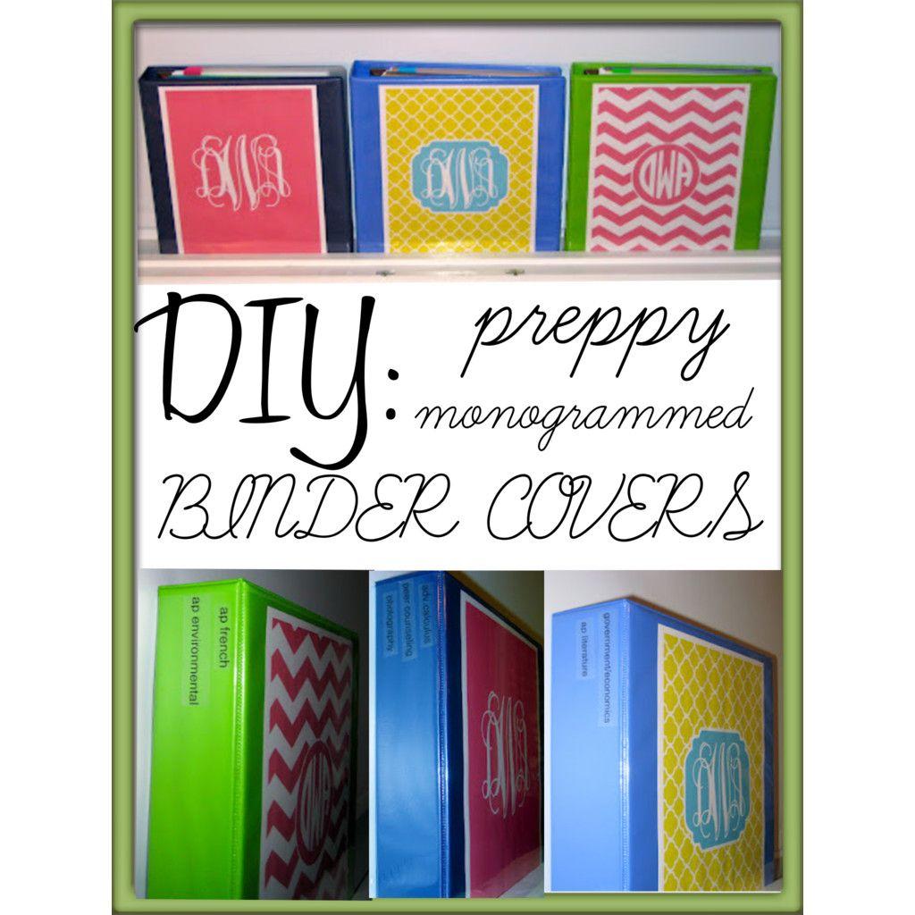 DIY: Preppy Monogrammed Binder Covers