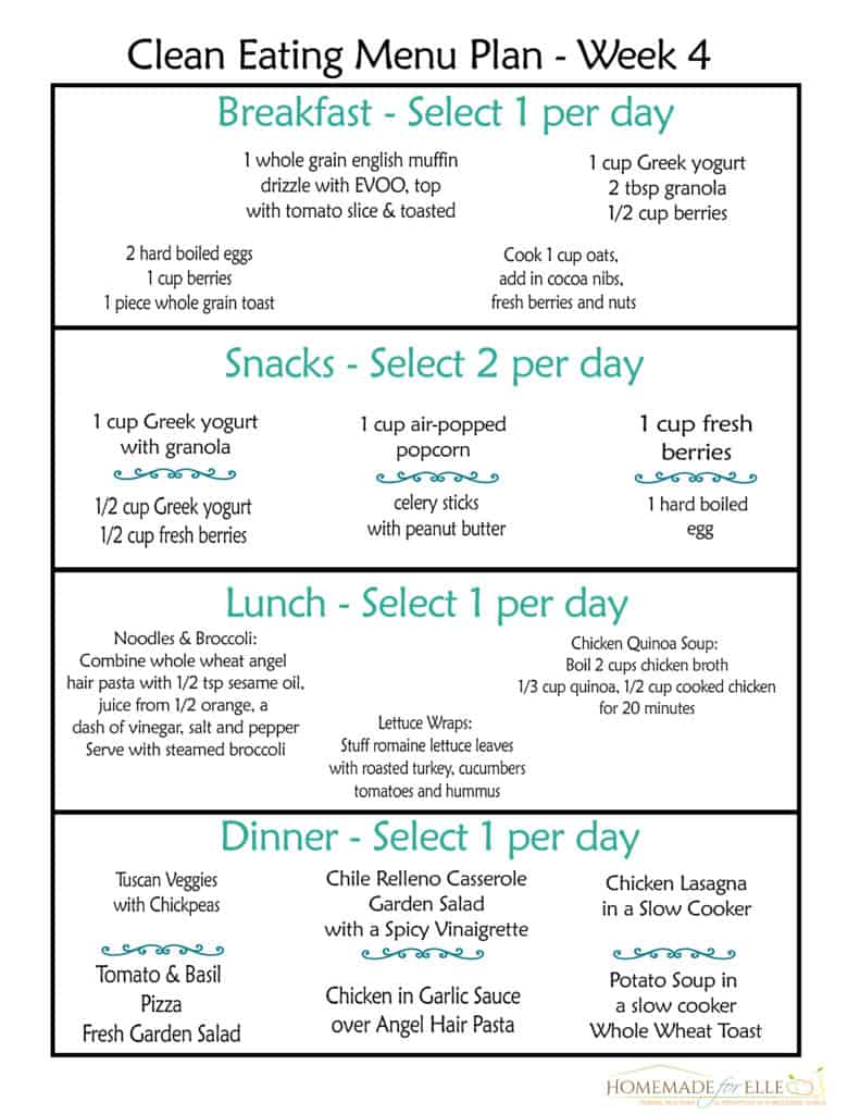 Free Clean Eating Meal Plan on a Budget #ketomealplan