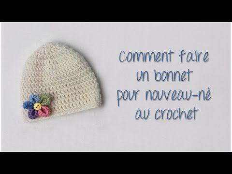 Je vous propose dans ce nouveau tutoriel de réaliser un bonnet pour  nouveau-né au crochet, qui sera parfait pour un cadeau de naissance par  exemple  ) Bon ... cfc7a771daf