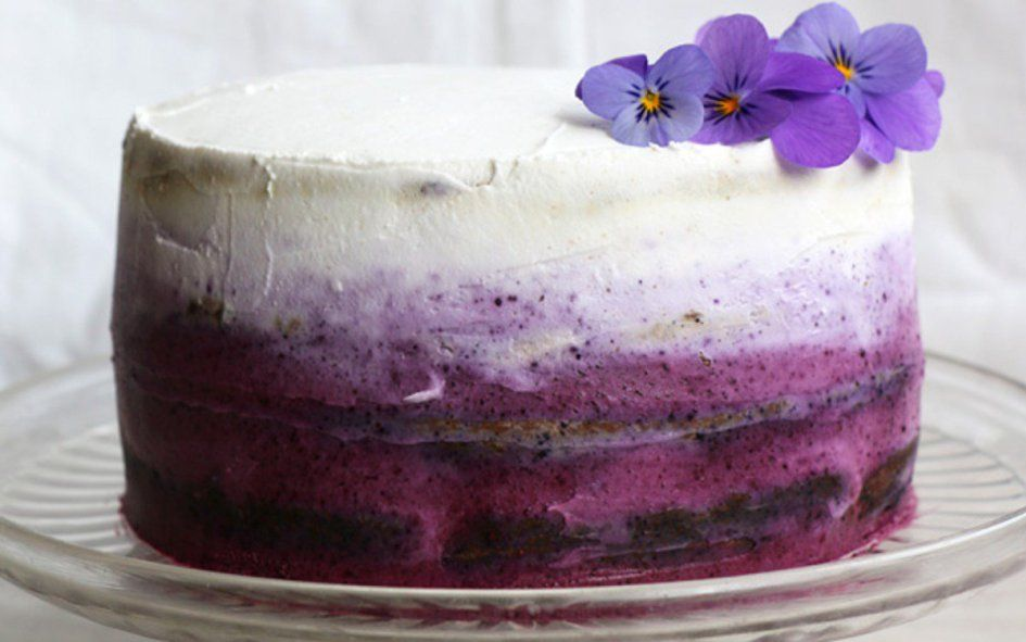 This blueberry cake is gluten-free cake in disguise. By that, we mean that the texture is so amazing, nobody would ever know that it's gluten-free unless you told them.  Fresh blueberries are stirred into the batter, adding little bursts of fruity flavor into every bite. The frosting is a combinat