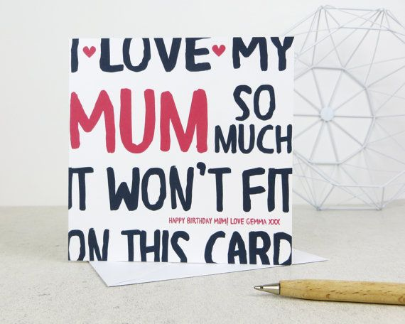 Funny Mum Card Card For Mom Mam Mother Mothers Day Card