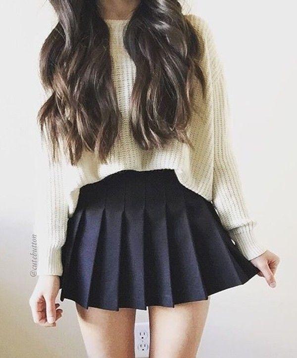 Sweater 1 At Ebay Com Wheretoget Black Skater Skirt Outfit Skater Skirt Outfit Fashion