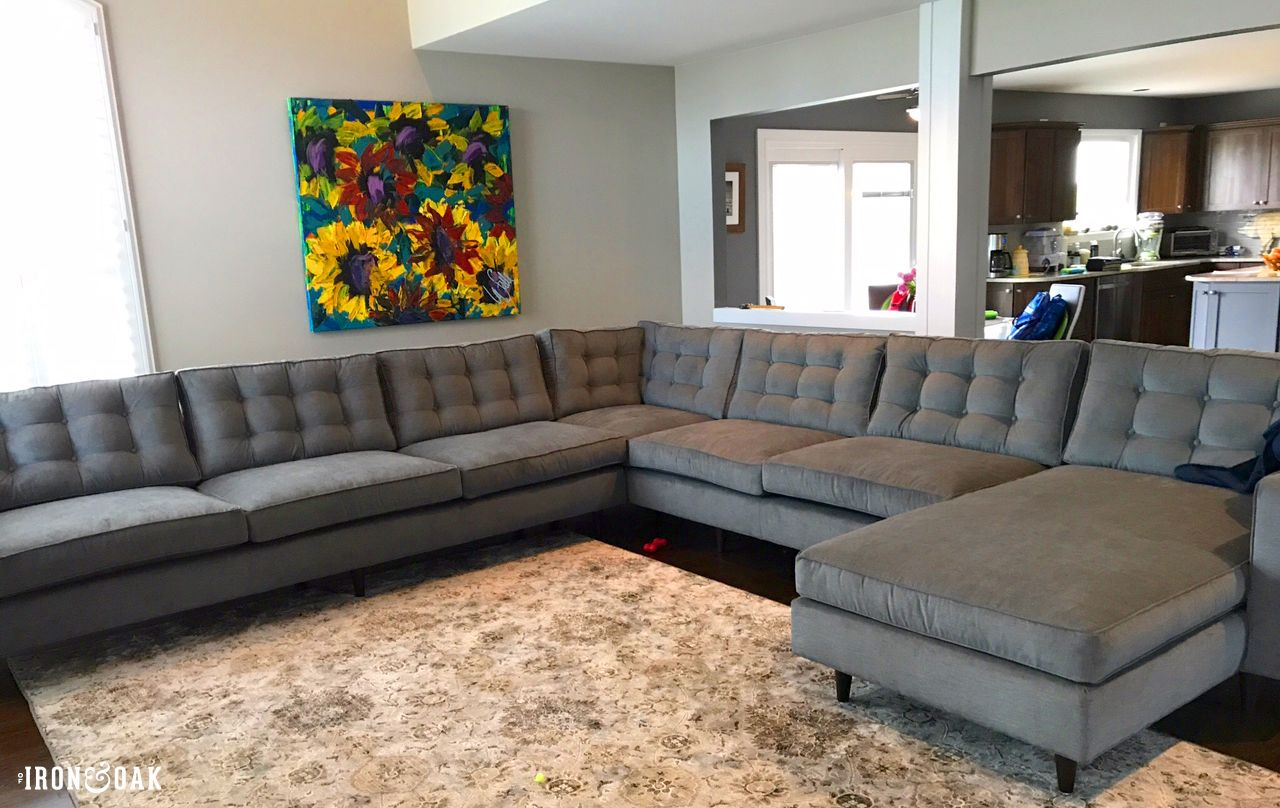 Giant Sectional Furniture Custom Furniture Furniture Making #redding #gray #living #room #collection