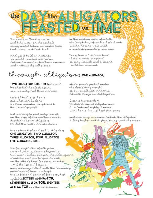 The poem about your childhood.  #poetry #poem #childhood #nostalgia #alligators #counting #broadside