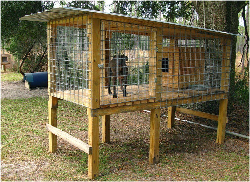 Off Ground No Digging Dog House Blueprints Build A Dog House