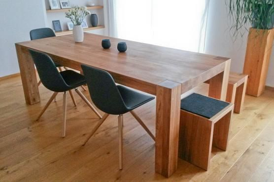 Holztisch Bamaco - Eiche Massivholz Darrell\u0027s projects Pinterest - esstische aus massivholz ideen