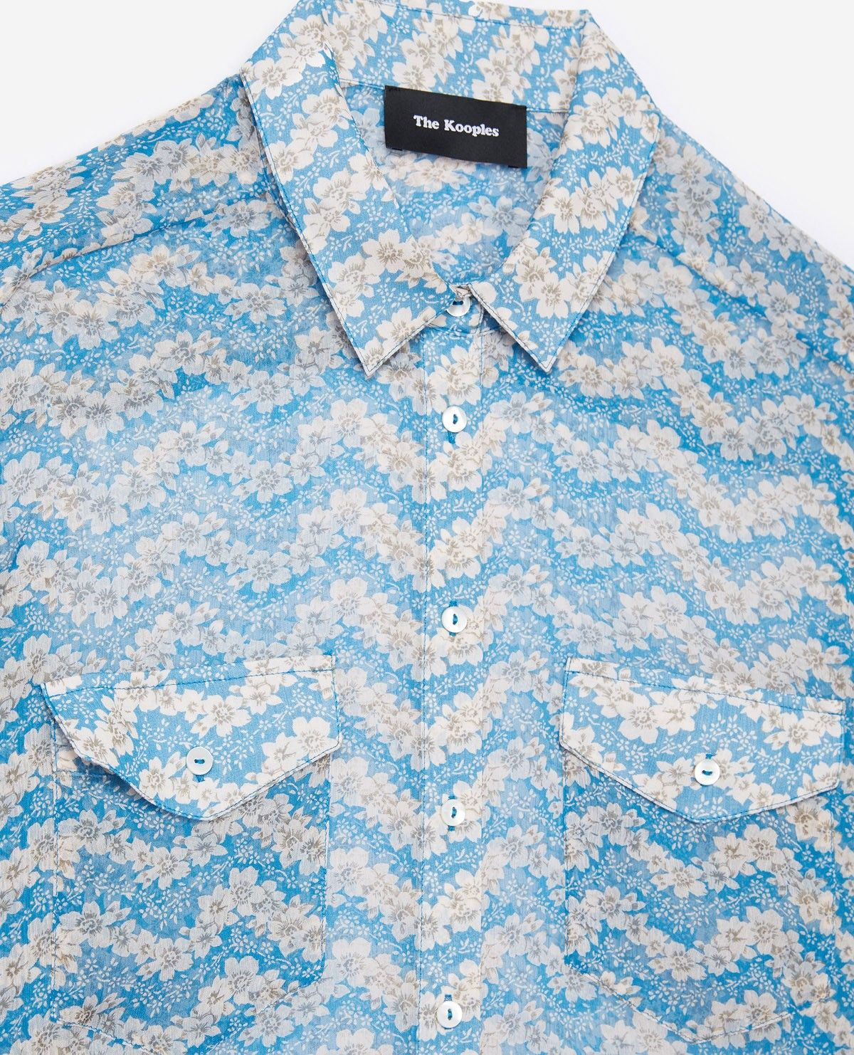 c042802de0a Blue Jasmine printed silk shirt - THE KOOPLES | Clothes by Category ...