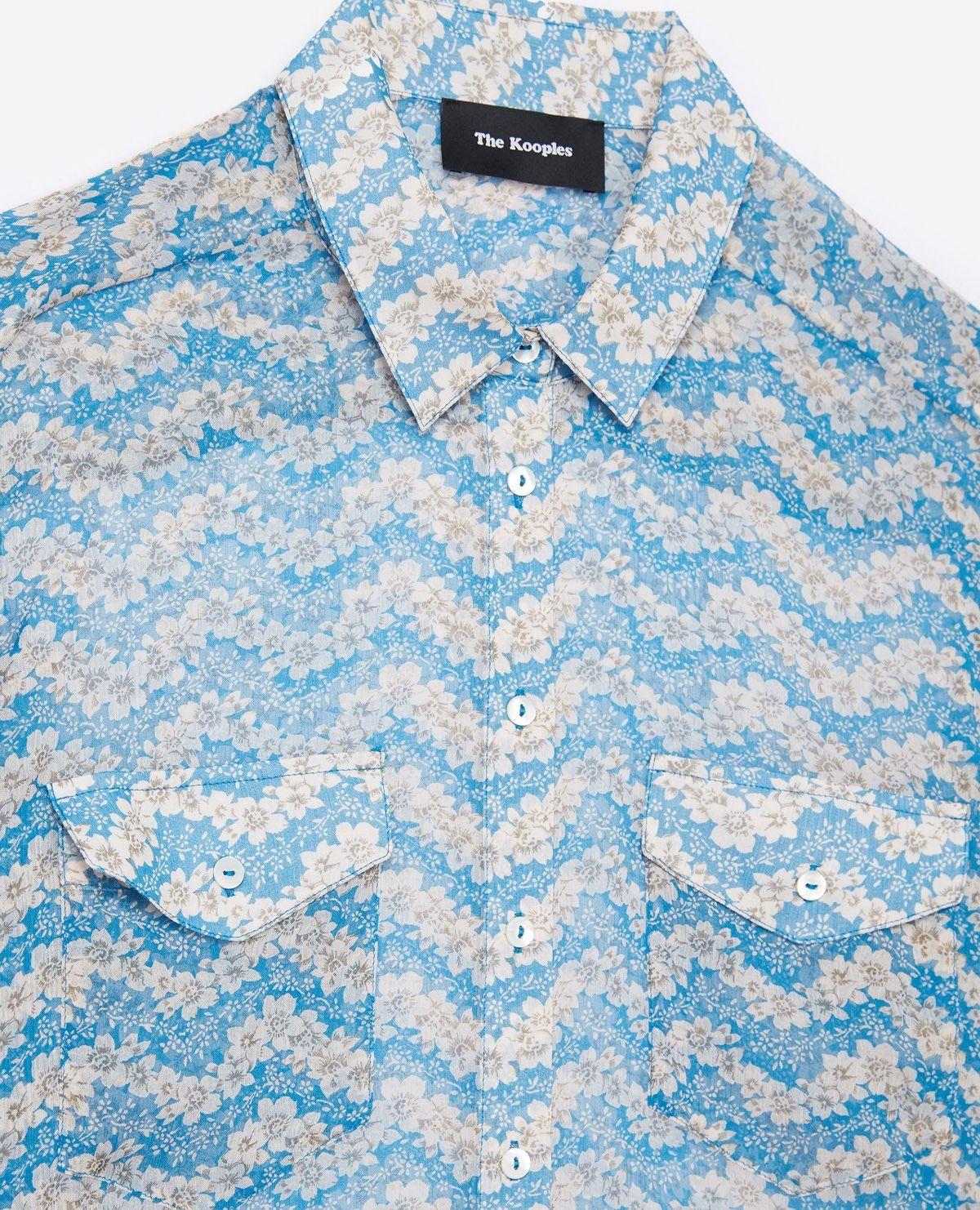 9753dabe91 Blue Jasmine printed silk shirt - THE KOOPLES. Blue Jasmine printed silk  shirt - THE KOOPLES Sale ...