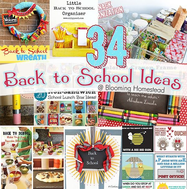 Blooming Homestead: 34 Back to School Roundup  #backtoschool #roundup