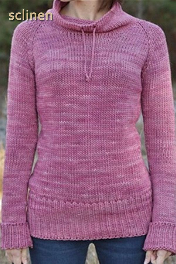 Autumn Winter Casual Basic Daily Long Sleeve Knitted Turtleneck Plus Size Sweater 3