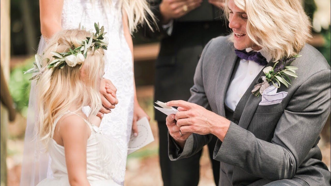 Our Wedding Video Will Make You Cry Vows To 4 Year Old Daughter The Best Wedding Video Ever Best Wedding Vows Youtube Wedding Cole And Savannah