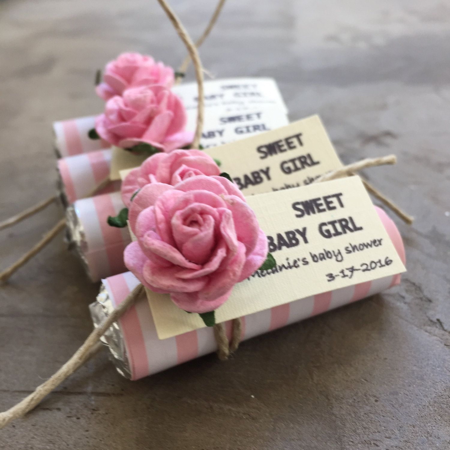 Baby shower favors girl baby wel e party favors set of 24 mint